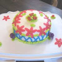 Spring Day/ Vacation Tropical Hawian This is the first fondant cake I made. .