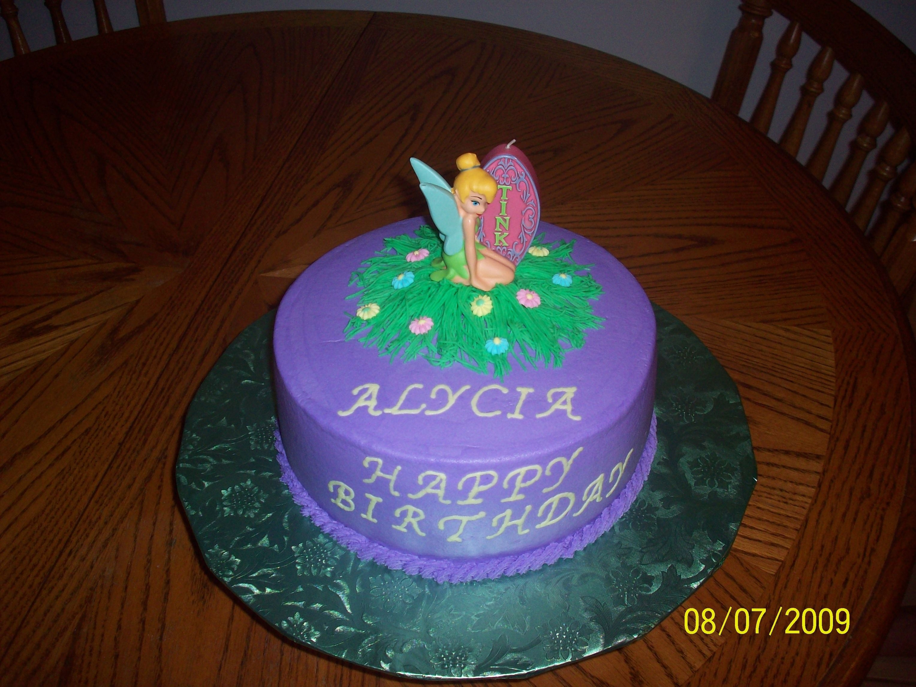 Tinkerbell I made this cake for my daughter's 4th birthday. She absolutely loved it (as did I) !!!