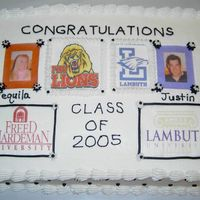 Graduation Cake - Edible Images This was a graduation cake done with the edible icing sheets which was more like wafer paper. I've since changed to the Luck's...