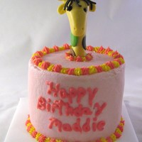 Giraffe Smash Cake   smash cake that went with pink monkey cake