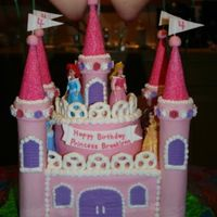 Princess Castle This was my first attempt at a tiered cake and a castle. I made this for my daughter's 4th birthday. I can't believe how many...
