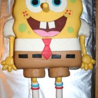Spongebob I made this cake for my husband's birthday. He likes to watch SpongeBob with our oldest daughter.The cake is a double layer chocolate...