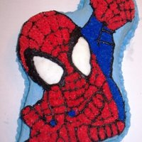 Spiderman! This was my first Character Cake made during my Wilton Courses. I couldn't believe I could actually do this!