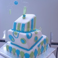 Topsy Turvy In Aqua And Lime