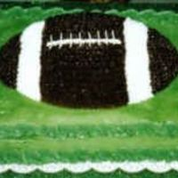 Football Groom's Cake This was the football cake pan on top of a 1/2 sheet cake.