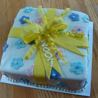 Course 3 Cake This is the first time I have ever covered a Big cake in fondant. There has to be a better way of doing the corners than she showed up to...