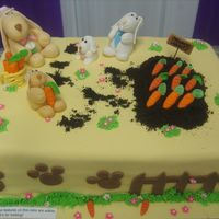 A Heavenly Garden Cake   This cake I made for the annual cake contest in Nevada County.Sugar paste and Fondant features....all edible!