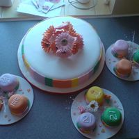 Birthday Cake   my 1st attempt at these cake and making my own flowers and decoration for a 21st birthday and she loved it
