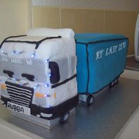 Light Up Lorry Birthday Cake this is a birthday cake i made for a friend, this is my first atempt at this cake and using lights on it, the cab can be kept as not made...