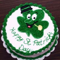 Shamrock With A Pipe I love this little guy! I got the image from a coloring book website and did a piping gel transfer and filled it in.