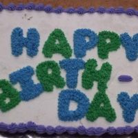 Happy Birthday Cupcake Cake This was my 2nd attempt at a cupcake cake. I didn't figure too well on my spacing though :) I had to curve and split up birthday. I...