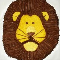 Lion This is one of my son's 1st birthday cakes. He is CMD chocolate chip cake (YUMMY) with chocolate and regular buttercream. Too bad the...