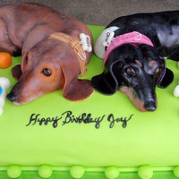Birthday Cakes I made this cake for a good friend of ours. His wife requested a Doxie cake so I thought that I would do a cake of their Doxie's and...