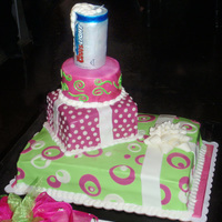 Desi's 50Th Birthday Cake. Made this for my good friend on her 50th and her daughter told me not to forget the beer.