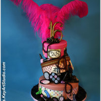 Sweet 16 For Two Fashion Lovers Grand Sweet 16 Cake for twin sisters, who's passionate about fashion. 80 servings of white velvet cake with Dulce de Lece Mousseline...