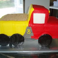 Dump Truck inspired by the dump truck in the wilton fondant book.