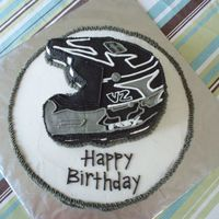 Racing Helmet Buttercream