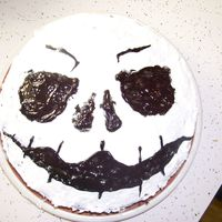 "Jack Skellington Son's 9yr. birthday cake. All is from a box, before I started trying ""from scratch"" recipes."