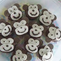 Monkey's I got the idea from some cupcakes on here! The face is made of almond bark.