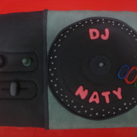 Dj Hero Turntable Yup, a life sized DJ Hero turntable. Completely and totally edible! It was my very first cake decorated with fondant! Super fun to make! It...
