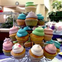 Cupcake Tree!   This was for a bake sale for Nurses Week.