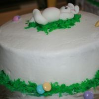 Easter Bunny Coconut grass and jelly bean eggs