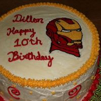 Iron Man Cake   Got this request and tried out the FBCT for the first time....Any tips on getting it better would be helpful. TFL