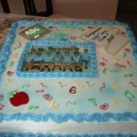 My Twins Preschool Graduation Cake   vanilla pound cake with buttercream icing and edible image of graduating class