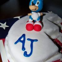 Sonic The Hedgehog One of 4 children's birthday cakes delivered with a large Independence Day cake. This child loves Sonic. I was pretty happy with how...