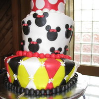 Minnie Mouse Birthday My friend and I worked on this cake together for her daughter's 3rd birthday. It was our first attempt at a topsy turvy cake. It...