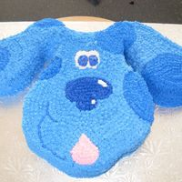 Blue's Clues Blue carved from 2 9x13 cakes.