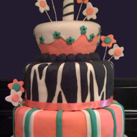 1St Birthday Pink Zebra Cupcake Cake (3) Tier 1st Birthday Zebra Theme Cake. Covered and decorated in fondant. Candle and stars made out of 50/50 fondant and gumpaste. 10&quot...