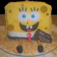 Sponge Bob 3D Cake Sponge Bob 3D Cake. Used Square pan cut in half did this so that I had 6 halves stacked on top of each other. Covered and decorated in...
