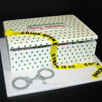 Doughnut Box Cake  Fantastic Forty doughnuts, this cake was made for a police officers 40th birthday, the sides and top were made out of gumpaste/fontant...