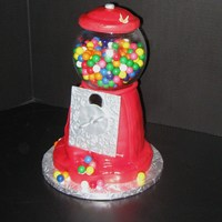Gum Ball Machine Gum ball machine, red fondant and gumpaste for the silver plate, real gum balls