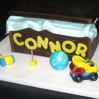 Toy Box   Toy box cake, toys are rice crispies covered in fondant