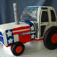 Colton's Tractor Cake Made for my son's 3rd birthday, which is June 30th. We celebrated his birthday on the 4th of July and this cake fit the theme...