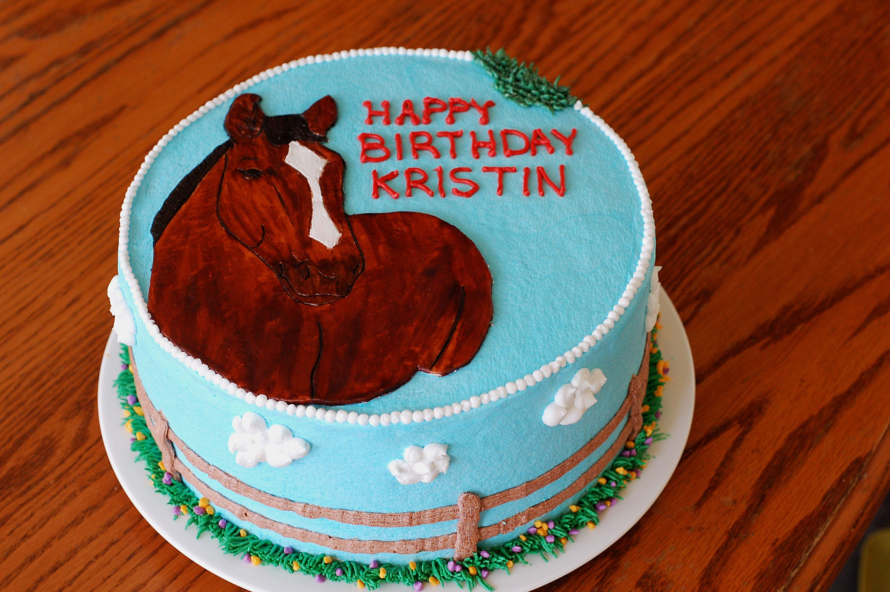 Horse Cake The cake I made for my niece's 13th birthday. Her parents bought her horse back riding lessons for her birthday and they wanted a...