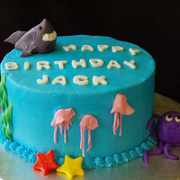 Jack's Aquarium Cake Done for a friend of mine who was going to take her son and the family to Shedd's Aquarium for his birthday so she wanted the cake to...
