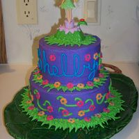 "Think Tink I made this for my niece's 7th Birthday. I got the idea from a pic I found here. The bottom layer is an 8"" white cake with BC..."