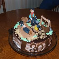 Diabetic Cowboy Cake Made for my mother's 80th birthday. All her family was cowboys. This is a sugar free cake except for the figures. Frosting is very...