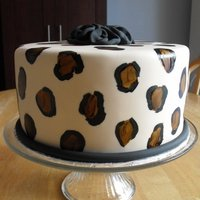 Leopard Print Cake My first time doing leopard print.... love painting on cake!