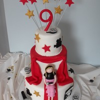 Grace The Hollywood Diva My daughter's 9th birthday. We designed this cake together and were both very happy with it! Fondant figure is made to resemble my...
