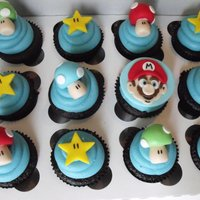 Super Mario Cupcakes These were lots of fun to do!