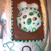 Baby Shower I had been wanting to try one of these cakes, so I finally made one for my OWN baby shower. Everything is homemade and edible. It was a lot...