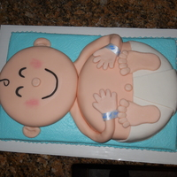 Baby Boy Vanilla cake covered in MMF. Details are made of either gumpaste or MMF. Thank you to all who made this and posted photos already! I...