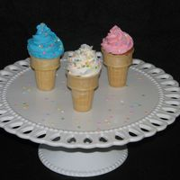Cake Cones  I loved the idea of these cones....the best part is the possibilities are endless with fillings and flavors to match real ice cream flavors...