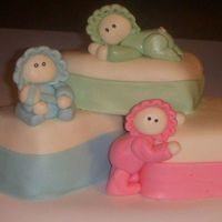 3 Little Babies White cake with HM BC and MMF. Made for fun but could be used for triplets..