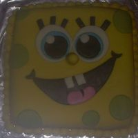 Spongebob Is Cake.... Made it for fun.... My kids asked me to so I said why not. Everything is MMF with BC and Chocolate cake. Everything was hand cut by me......