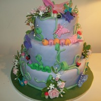 Tinkerbell Birthday Cake Tinkerbell cake for a little girl's first birthday. I think the first 3 tier cake. I got ideas from a number of cakes here. I didn&#...